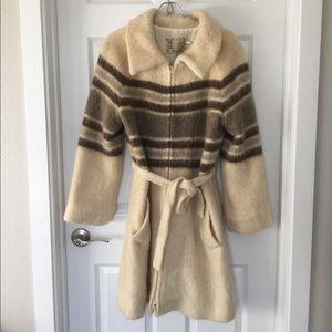 Vintage Cream Wool Coat